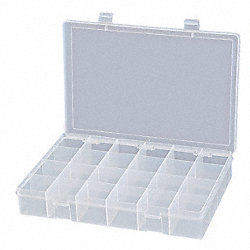 Parts Box, 24 Compartments, Plastic, Large