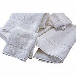 Bath Towel, 24 x 50 In, White, PK 12