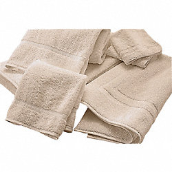 Bath Towel, 24 x 50 In, Ecru, PK 12