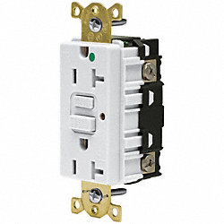 Receptacle, 20 Amp, White