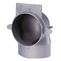 Duct Elbow, Plastic, 4 In