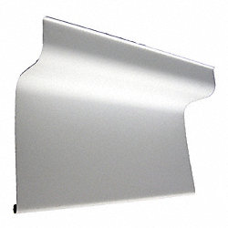 Basin Guard, 42 In, PVC, White