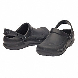 Slip-On Shoes w/Strap, Black, Size 6, PR