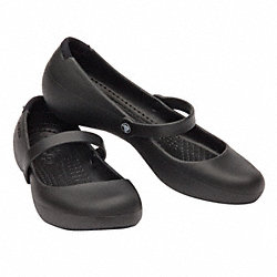 Slip-On Shoes w/Strap, Black, Womens 8, PR