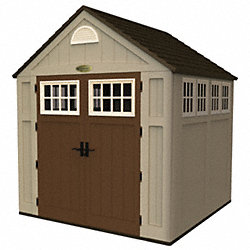 Outdoor Storage Shed, 8x7x7, Sand