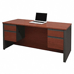 Executive Desk w/Half Pedestals