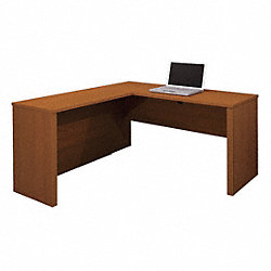 L-Shaped Desk, Cognac Cherry