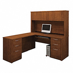 Workstation w/Hutch, Double Pedestals