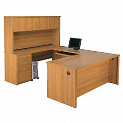 U-Shaped workstation with Hutch