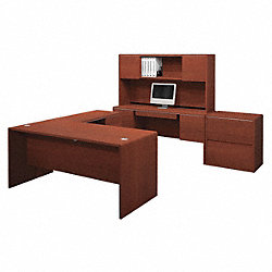Executive Desk Complete Kit, Bordeaux