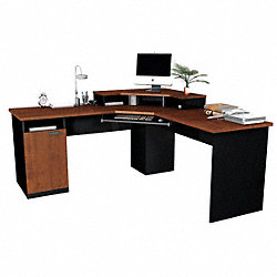 Corner Workstation, Tuscany Brown/Black