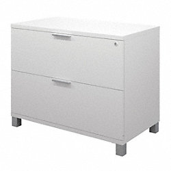 Assembled Lateral File, White