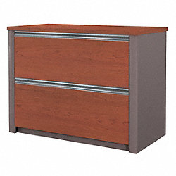 Lateral File Cabinet, Bordeaux/Slate