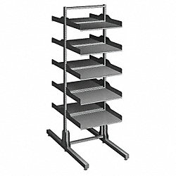 Double Sided Shelf Rack, 10 Shelf
