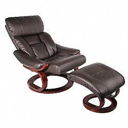 Massage Recliner w/Heat, Dark Brown