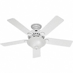 Decorative Ceiling Fan, Beech/White
