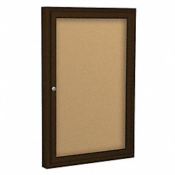 Enclosed Bulletin Board, Coffee, 1 Door