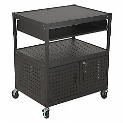 Mobile Flat Panel TV Cart, 2 Shelf, Black