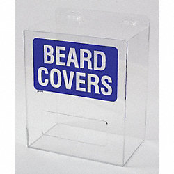 Beard Cover Dispenser, Arcylic, Clear