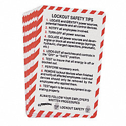 PRINZING LOCKOUT SAFETY CARD, PK 10