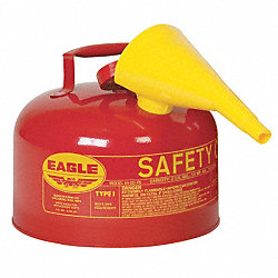 Type I Safety Can, 2-1/2 gal., Red, 10