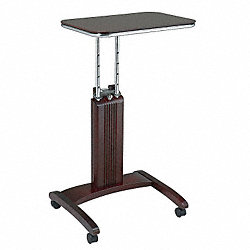 Laptop Cart, Wood, Mahagony, 20 In. H