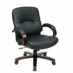 Exec Midback Chair, Eco Leather, Black