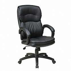 Exec Highback Chair, Eco Leather, Black