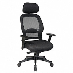 Managerial Chair, Mesh, Black