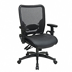 Managerial Chair, Leather, Black