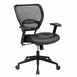 Office Chair, Leather, Black