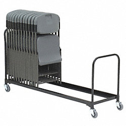 Folding Chair Cart, 34 Chairs, 510 lb.