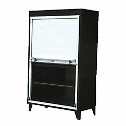 Storage Cabinet, 78x48x24, Dark Gray