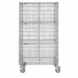 Mobile Security Cart, 52x27x69