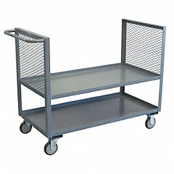 Box Truck, 2 Mesh Sides, 2 Shelves, 24x60