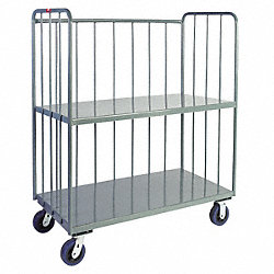 3 Sided Rod Truck, 2 Shelves, 24x60