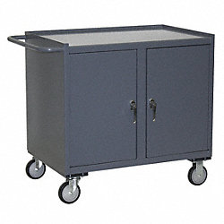 Mobile Workbench Cabinet, 36 In. L, Gray