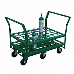 Medical Cylinder Cart, Cap 2000 Lb, 30x42