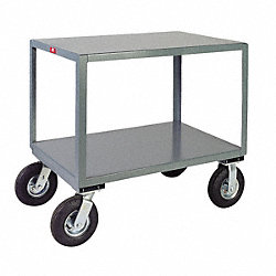 Mobile Table, Cap 1200 Lb, 2 Shelf, 30x60