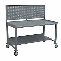 Mobile Workbench Cabinet, Gray, 73 In. L