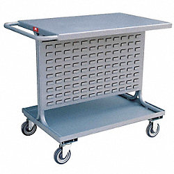Louvered Cart, 42x25x35 In., 1200 lb. Cap.