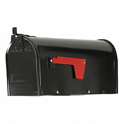 Steel Mailbox, Type 1, Black