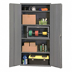 Storage Cabinet, 72x36x24, 4 Shelves, Gray