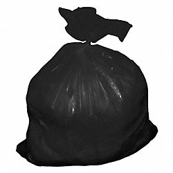 Trash Can Liner, 55 Gal., Black, LDPE, PK 50