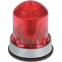 Halogen Beacon, Steady Burn, Red, 120VAC
