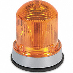 Warning Light, LED, 120VAC, Amber, 65 FPM