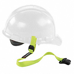 Hard Hat Lanyard w/ Clamp, Elastic, Lime
