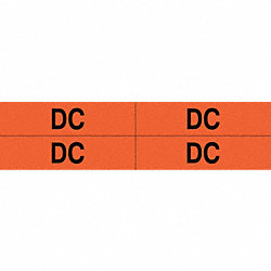 Conduit Marker, Legend DC, 4-1/2 In
