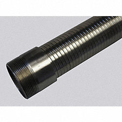 Interlock Metal Hose, Roughbore, 4 x144 In