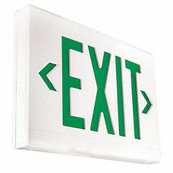 Exit Sign, 3.8W, Green, 1 or 2
